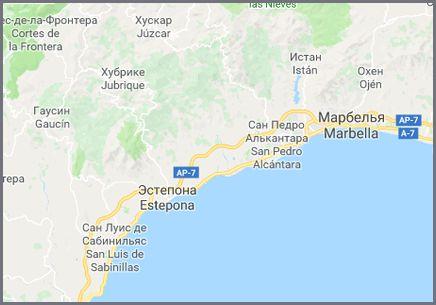 Эстепона карта