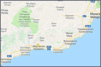 Марбелья карта