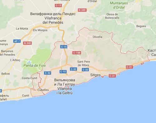 Карта побережья Коста дель Гарраф