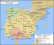 Андалусия карта Испании 411 год