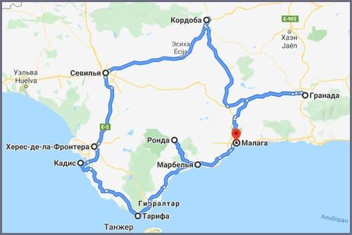 Групповой тур по Испании Андалусии 8 дней на автобусе